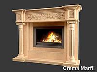 Портал для камина (облицовка) Континенталь из натурального мрамора Crema Marfil