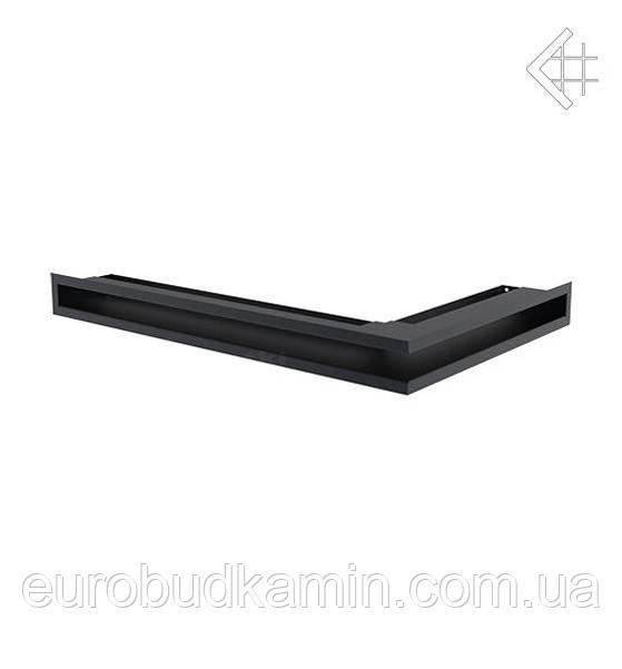 Вентиляционная решетка KRATKI люфт угловая левая 400x600x60 mm SF- графитовая