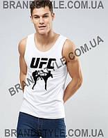 Мужская  белая майка UFC   S