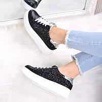 Кроссовки женские Queen Collection пайетки 3521, спортивная обувь