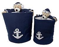 Набор корзин для хранения игрушек Trento Медведь-моряк(2 в1)