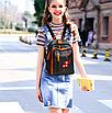 Рюкзак женский кожзам с заклепками Sakura, фото 3