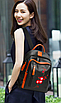 Рюкзак женский кожзам с заклепками Sakura, фото 4