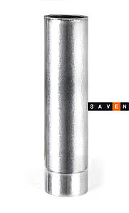 Труба для дымохода термоизоляционная двустенная в оцинкованном кожухе, L=1м,