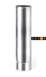 Труба дымоходная двустенная  термоизоляционная в оцинкованном кожухе (0,5мм) L=1.0м Ø100/160