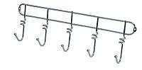 Вешалка гардеробная 5 крючков Arino (хром)