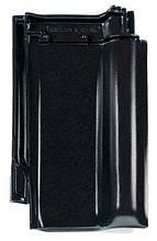Черный (ангобированная). Модель Рубин 9V Керамическая черепица Braas (Брас)