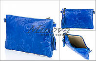 Женская синяя сумка из натуральной кожи