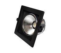 Встраиваемый светильник Квадрат SC 18W Черный, фото 1