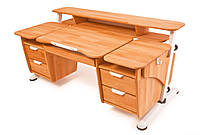 """Письменный стол """"Эргономик"""" для школьника с двумя тумбами"""