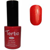 Гель-лак Tertio №087 Алый с микроблеском 10 мл