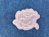 Нашивка Роза сиреневый атлас 55х44 мм