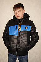 "Куртка трансформер демисезонная Lutter ""Улумбек"" чёрный/электрик"