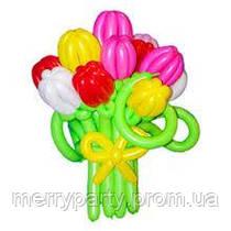"""Композиция букет """"Тюльпаны"""" из воздушных шаров"""