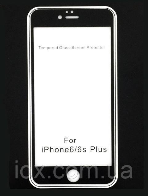 Стекло с антибликовым матовым покрытием iPhone 6 Plus AG 2.5D (черный)