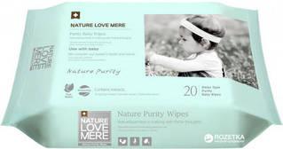 Дитячі вологі серветки NatureLoveMere, Purity, 20шт