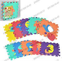 Массажный коврик-мозаика M 2618EVA, 6 текстур, 10 составных элементов, детали животного вынимаются