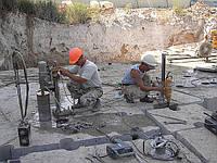Алмазное сверление отверстий (бурение) кирпичной кладки, бетона и железобетона без ограничений толщины