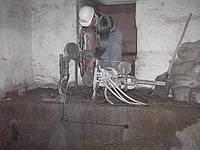 Демонтаж зданий, перекрытий, больших фрагментов бетона и железобетона с помощью канатной пилы