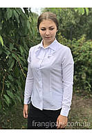 Блуза с жабо