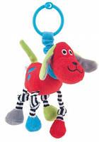 Игрушка-погремушка мягкая, собака, красная, Canpol babies (68/051-2)