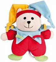 Музыкальная плюшевая игрушка-подвеска Мишка клоун, Canpol babies (2/407-3)