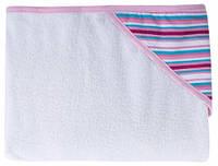 Полотенце с капюшоном (розовая полоска) 80 × 95 см, Canpol babies (26/300-2)