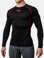 Компрессионная футболка Peresvit Air Motion Long Sleeve T-Shirt Black Red