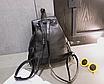 Рюкзак кожзам городской женский Ковбойский с заклепками Черный, фото 4