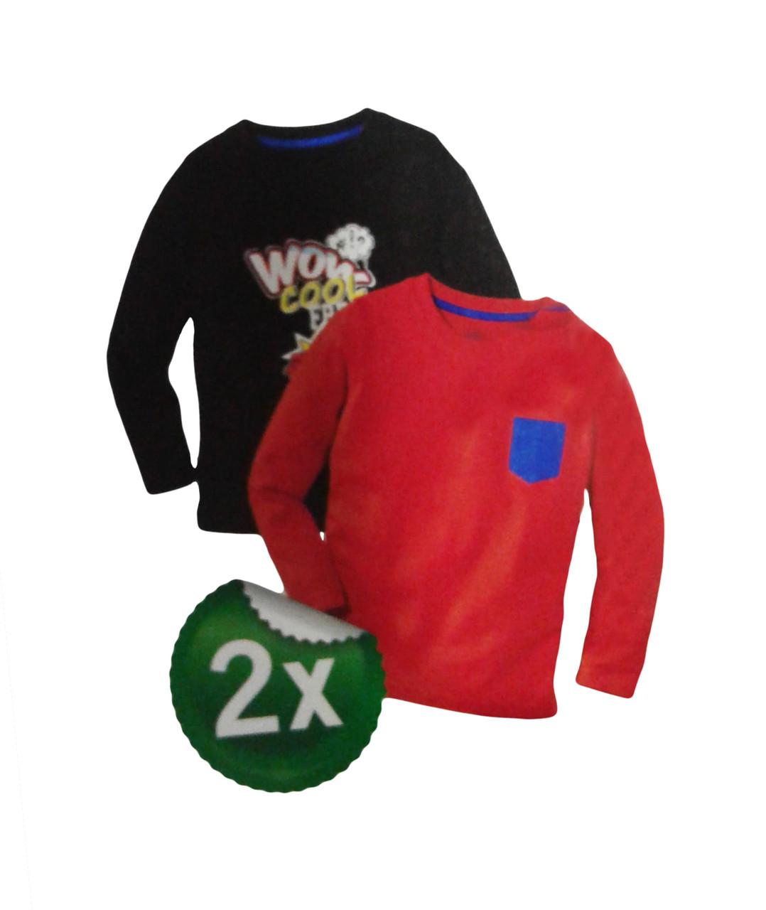 Реглан для мальчика, ( 2 шт в упаковке), размеры  98/104, Lupilu, арт. Л-382