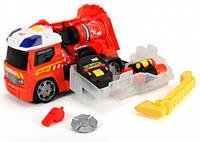Пожарная машина с аксессуарами пожарного (свет, звук), 33 см, Dickie Toys (371 6006)