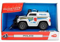 Полицейский автомобиль со щитом, 15 см (свет, звук), Dickie Toys (330 2001)
