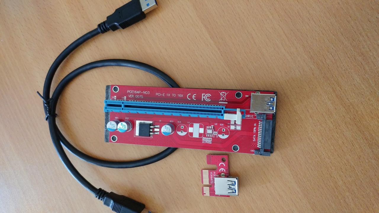 Адаптер Riser Card PCI-E VER 007S