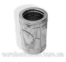 Ревизия дымоходная двустенная термоизоляционная в оцинкованном кожухе (1,0мм) Ø100/160