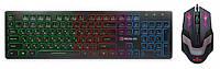 Клавиатура с мышью REAL-EL Comfort 7070 + RM-510 игровые с подсветкой, фото 1