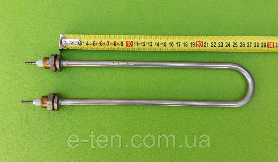 Тэн водяной для дистилляторов 2000W (ДУГА) / 220V / НЕРЖАВЕЙКА (на латунных штуцерах Ø18мм)   Tenko, Украина