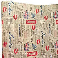 "Подарочная бумага ""Лондон"" (501) крафт"