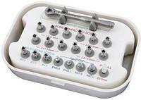 Остеотоми винтовые, набор с ключем, адаптерами и переходниками, для расщепления гребня, синус-лифтинга и уплотнения кости