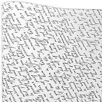"""Подарочная бумага """"Письмо"""" (502) белое"""
