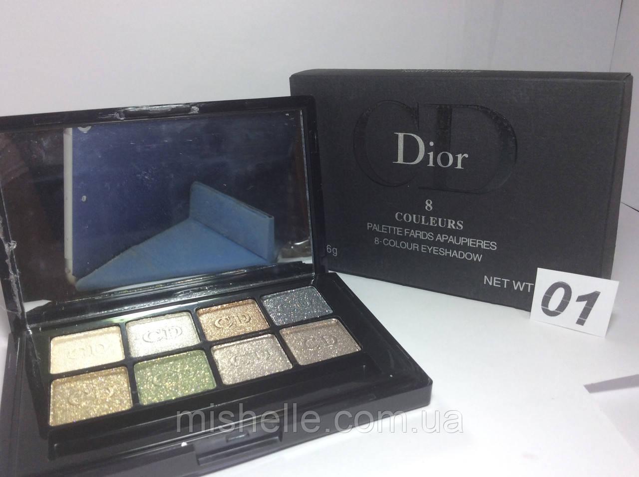 Тіні Christian Dior 8 кольорів
