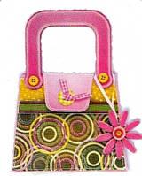 Набор для творчества сумочка с украшениями зеленая с кругами, Mota (H-101-8)