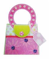 Набор для творчества сумочка с цветами-пуговицами, Mota (H-101-2)