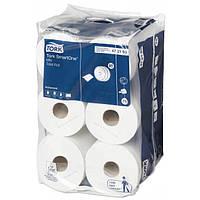 Tork SmartOne туалетная бумага в мини-рулонах (T9), 2 слоя, цвет белый, смешанное экологическое сырье, 620 лис