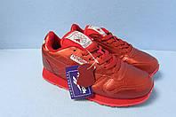 Кроссовки Reebok красные 837-708 натуральная кожа код 0740А