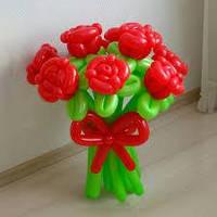 """Композиция букет """"Розы"""" из воздушных шаров"""