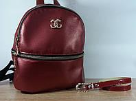 Женский городской рюкзак Chanel бордового цвета