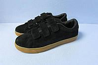 Кроссовки на липучках Nike (355-1) черные код 0735А