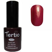 Гель-лак Tertio №096 Темно-алый с микроблеском 10 мл