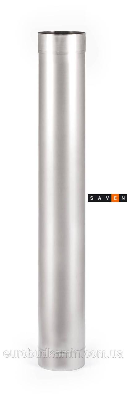 Труба дымоходная с нержавеющей стали одностенная (0.8мм) L=0.5м Ø100-Ø600