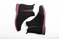 Ботинки № 409-2 черный замш